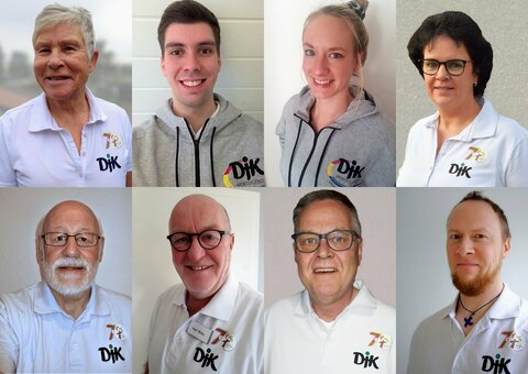 Vorstand DJK-Sportverband Diözesanverband Münster e.V.  (obere Reihe v.l.) Gisela Bienk, Jannik Friehage, Anna-Lena Resing, Marion Kemker (untere Reihe v.l.) Karl Stelthove, Josef Dirks, Wolfgang Tettenborn, Marcus Porsche